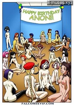 Happy Birthday Anon XXX comic