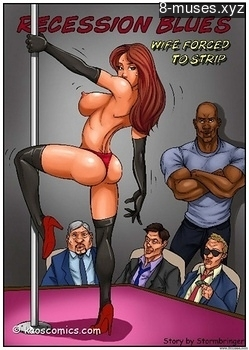 Recession Blues – Wife Forced To Strip Porn Comic