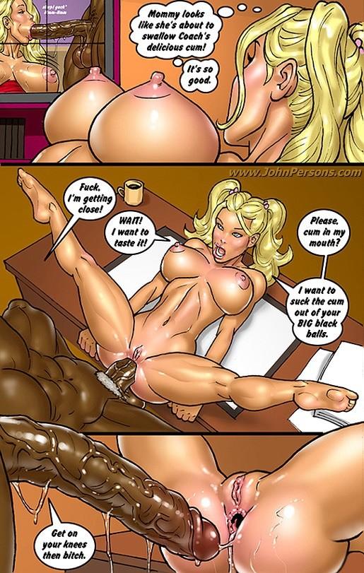 Порно комиксы с черными