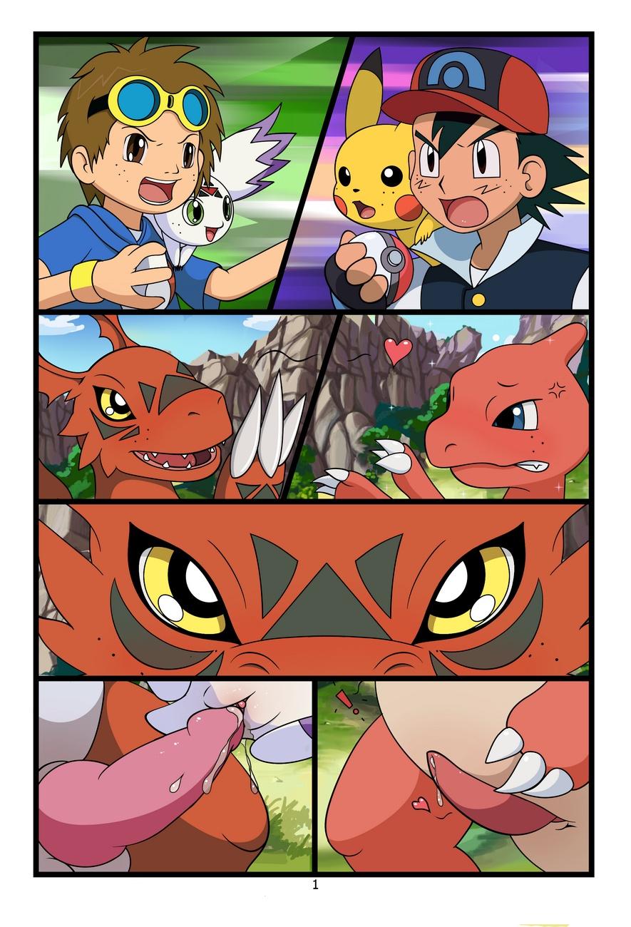 pokemon und digimon crossover porno