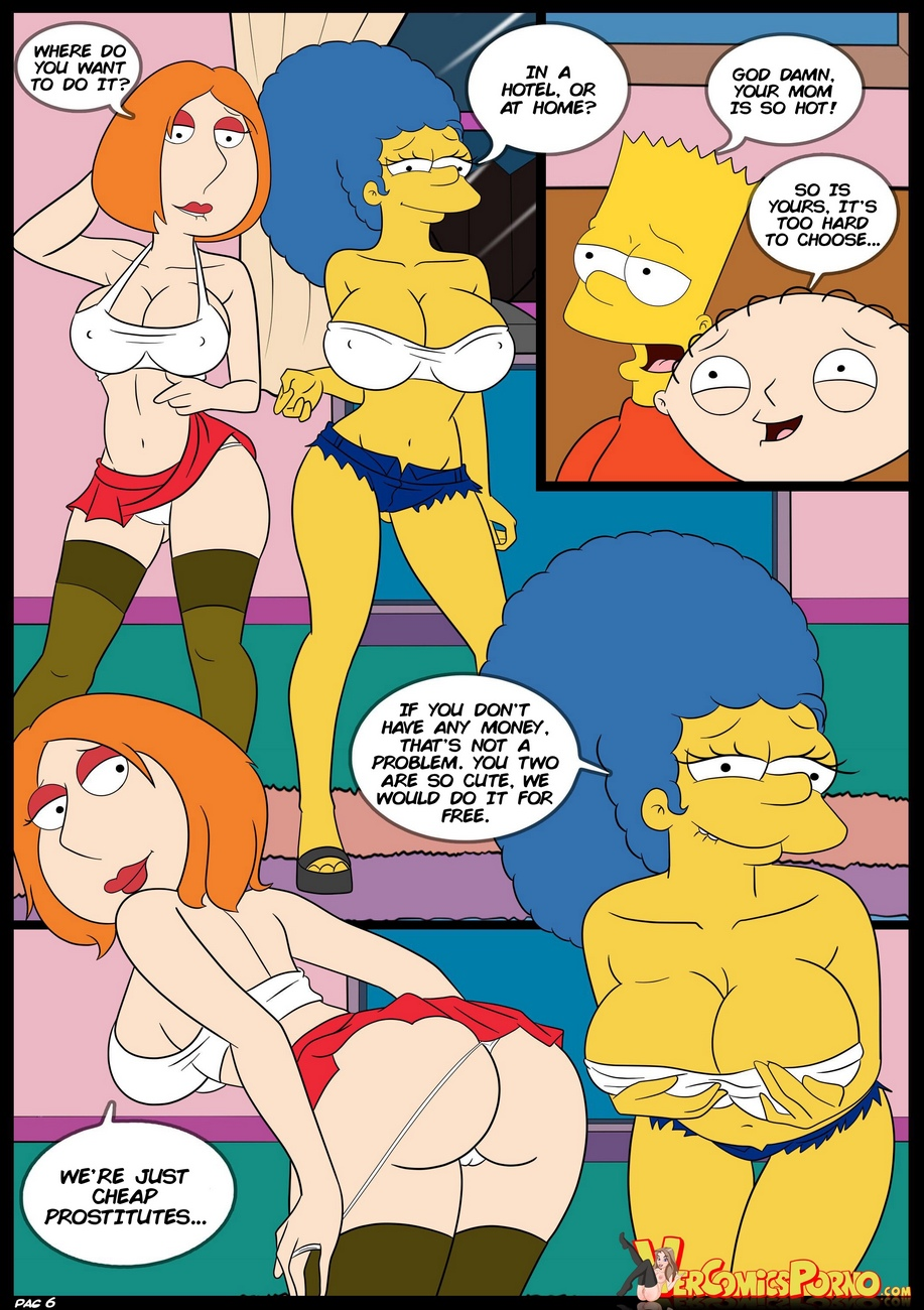Simpsons and family guy porn