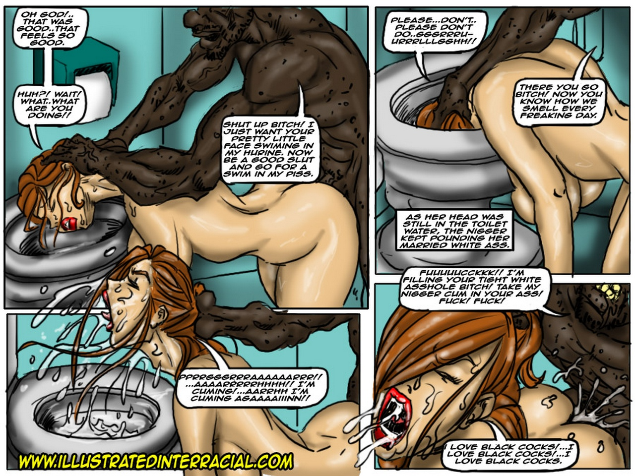 Comics interracial gangbang